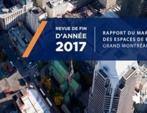 Avison Young Montréal : Revue du marché des espaces de bureaux du Grand Montréal, fin d'année 2017