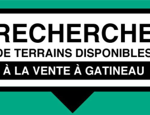 Recherche de terrains disponibles à la vente à Gatineau