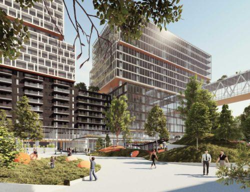 Espace Montmorency, un projet multifonctionnel de plus de 450 M$, poursuit activement sa construction au centre-ville de Laval