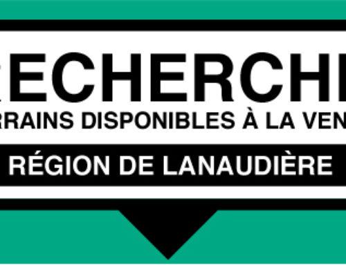 Recherche terrains disponibles à la vente dans la région de Lanaudière
